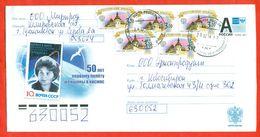 Russia 2013.Espace.50 Years Of Tereshkova's Flight. Envelope Passed The Mail. - 1992-.... Federation
