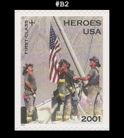 US B2 St1 Heroes Of 2001 - Blocks & Kleinbögen