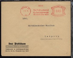 Berlin AFS BERLIN SO 36 3.9.31 Buchdruckerei C. Janiszewski  - Non Classés