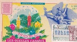 LOTERIE NATIONALE...LES GUEULES CASSEES  ...NOEL  1970 - Biglietti Della Lotteria