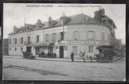 CPA 78 - Bonnières-sur-Seine, Hôtel De La Poste - Beaugrard Propriétaire - Autobus Félix Potin - Bonnieres Sur Seine