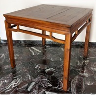 CINA (China): Old Chinese Game Or Tea Table - Square Wood Table - Arte Orientale