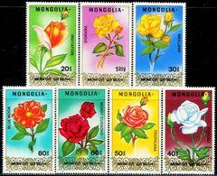 MG0653 Mongolia 1988 Flower Rose 7V MNH - Mongolië