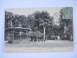CPA  60 NOYON Le Cours Kiosque Et Statue De Jacques Sarrazin 1905 T.B.E - Noyon