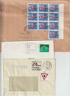 T 15) BRD 1971 Mi# 670 MeF (10) Auf B5-Umschlag: Neue Regeln Im Straßenverkehr (3 Belege) - Transport