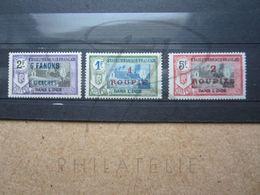 VEND TIMBRES DES ETABLISSEMENTS FRANCAIS DANS L'INDE N° 74 - 76 , NEUFS AVEC CHARNIERES !!! - Indien (1892-1954)