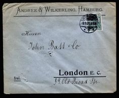 A5217) DR Brief Hamburg 9.11.01 M. EF Mi.55 N. London / UK - Deutschland