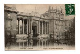 75 - PARIS . CRUE DE LA SEINE . La Chambre Des Députés - Réf. N°7855 - - Inondations De 1910