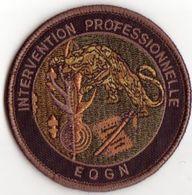 Patch EOGN Ecole Officiers Gendarmerie Nationale Intervention Professionnelle Basse Visibilité Kaki - Police