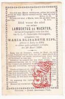 DP Lambertus De Wachter ° Retie 1804 † 1890 X Maria Elisabeth Sips - Images Religieuses