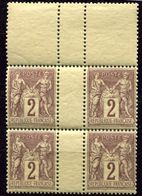 France - Sage **   - Type  Sage  N° 85   -   Bloc De 4 - 1876-1898 Sage (Type II)