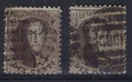Nr. 14 (2x) Tanding Niet Nagezien Met 8 Barren Stempels MIDI En NORD ; Staat Zie Scan ! - 1863-1864 Medaglioni (13/16)