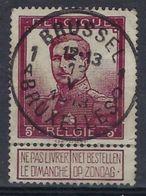 Nr. 122 Met MOOIE STEMPEL Van BRUSSEL 1 A BRUXELLES  ! Inzet Aan 10 € ! - 1912 Pellens