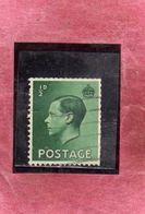 GREAT BRITAIN GRAN BRETAGNA 1936 KING EDWARD VIII RE EDOARDO ROI 1/2p HALF PENCE USATO USED OBLITERE' - Usati