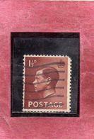 GREAT BRITAIN GRAN BRETAGNA 1936 KING EDWARD VIII RE EDOARDO ROI 1 1/2p ONE AND HALF PENCE USATO USED OBLITERE' - Usati