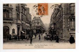 - CPA BLOIS (41) - La Rue Denis-Papin 1929 (belle Animation) - Edition A. P. 130 - - Blois