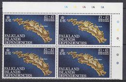 Falkland Islands Dependencies 1982 Rebuilding Fund 1v Bl Of 4 (corner)  ** Mnh (37839) - South Georgia