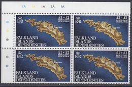 Falkland Islands Dependencies 1982 Rebuilding Fund 1v Bl Of 4 (corner)  ** Mnh (37839A) - Zuid-Georgia