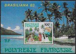 1983 Polynésie Française N° BF 7 Nf**. MNH .Bloc-feuillet . Jeunes Filles En Robe Polynésienne . - Blocchi & Foglietti