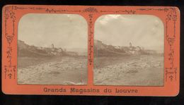 Photo Stéréoscopique Transparente 17,5 X 9 Cm - Village De St Laurent ( Du Var ? ) - Fotos Estereoscópicas