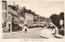 - JOIGNY - Quai Henri Ragobert (CP Rare, Animée, Panneau Citroen)  -19576- - Joigny