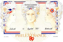 NOUVELLE CALEDONIE / Révolution Française Superbe Bloc Dentelées MNH Vente 2.00 Euros - Révolution Française