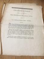 Fascicule Instruction Sur La Tenue Des Registres De L état à Voir - Décrets & Lois