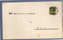 1929 Sirnach Zahlungsbefehl > Strassman Landwirt Wilen> A. Bernet-Müller Hofplatz, Wil (188) - Suiza