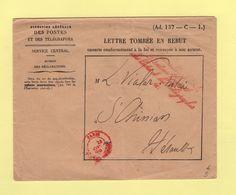 Le Conseiller D Etat Directeur General Des Postes Et Des Telegraphes (1) - Enveloppe Rebut - St Chinian Herault - 1889 - 1877-1920: Période Semi Moderne