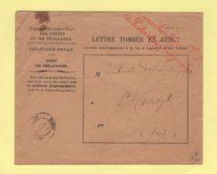 Sous Secretaire D Etat Des Postes Et Des Telegraphes (2) - Enveloppe Rebut - St Hippolyte Gard - 1897 - 1877-1920: Période Semi Moderne
