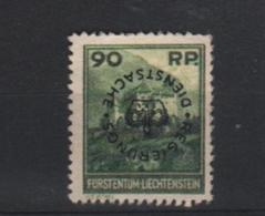 Liechtenstein Zegel Met Opdruk Ongebruikt - Nuovi
