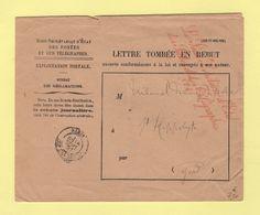Sous Secretaire D Etat Des Postes Et Des Telegraphes (1) - Enveloppe Rebut - St Hippolyte Gard - 1897 - 1877-1920: Période Semi Moderne