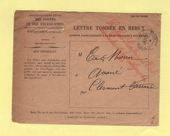 Sous Secretaire D Etat Des Postes Et Des Telegraphes (2) - Enveloppe Rebut - Clermont Ferrand - 1900 - 1877-1920: Période Semi Moderne