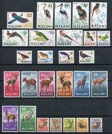 1968/71 - MALAWI  - FAUNA-BIRDS- LOT-2 RARE SETS  -  27 VAL. M.N.H.- LUXE ! ! - Malawi (1964-...)