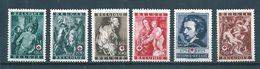 Belgique Timbre De 1944  N°647 A 652 Neuf ** Et * - Belgique