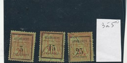 Guadeloupe - Yvert  3 à 5 - 2 Scan - Guadeloupe (1884-1947)