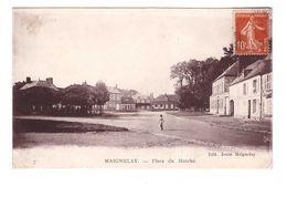 60 Maignelay Place Du Marché Cpa Animée Edit Jouin à Maignelay - Maignelay Montigny