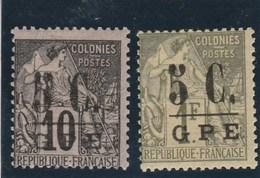 Guadeloupe - Yvert  10 Et 11 * Neufs Avec Charnière  - 2 Scan - Guadeloupe (1884-1947)