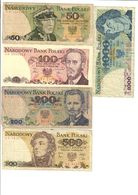 Poland Lot Set 5 Banknotes With 50 Zlotych 1979 - Polonia