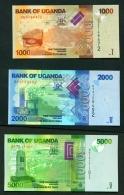 UGANDA  -  2013 To 2017  Full Set Of UNC Banknotes - Uganda