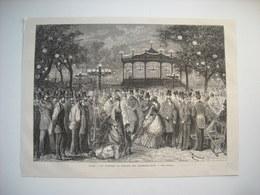 GRAVURE 1873. PARIS. UN VENDREDI AU CONCERT DES CHAMPS-ELYSEES. - Song Books