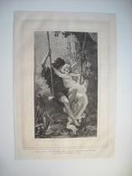 GRAVURE 1873. SALON DE 1873. LE PRINTEMPS. D'APRES UN TABLEAU DE M. P. COT. - Music & Instruments