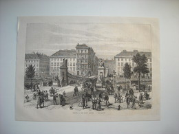 GRAVURE 1873. AUTRICHE. VIENNE. LE PONT ASPERN. - Song Books