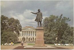 Leningrad: Monument à Pouchkine,Place Des Arts - Monument To Pushkin,Arts Square - (Jumbo Sized Postcard; 25 Cm X 17 Cm) - Rusland