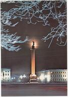 Leningrad: Colonne Alexandre, Place Du Palais - Alexander Column, Palace Square  - (Jumbo Sized Postcard; 25 Cm X 17 Cm) - Rusland