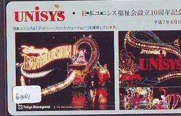Télécarte Japon / 110-169872 - DISNEY DISNEYLAND (6301) Unisys - Japan Phonecard Telefonkarte - Disney
