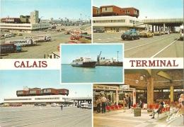 62 - Calais Terminal - Multivues (5) : Divers Aspects Du Terminal-est (architectes Guy Leducq Et Fernand Soupey) - Calais