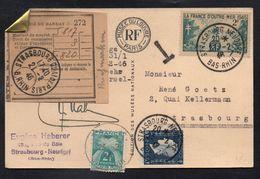 FRANCE - STRASBOURG NEUDORF / 1946 CARTE POSTALE TAXEE (ref 7824) - France