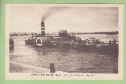 PONT SAINT ESPRIT : Arrivée Au Port Du Canigou, Retour D'Orange 30 Juillet 1930. Dragueuse. 2 Scans. - Pont-Saint-Esprit