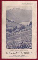 FRANCE FRANCIA CALENDARIETTO HORAIRE D'ETE' 1912CHEMIN DE FER FUNICULAIRE LES AVANTS SONLOUP - Calendarios